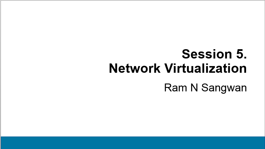 Session 5 Network Virtualization